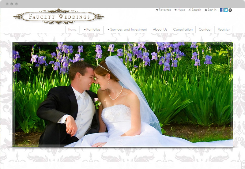 Redframe Photography Websites Client Example - Faucett Weddings