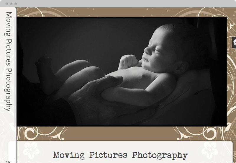 Redframe Photography Websites Client Example - Moving Pictures Photography