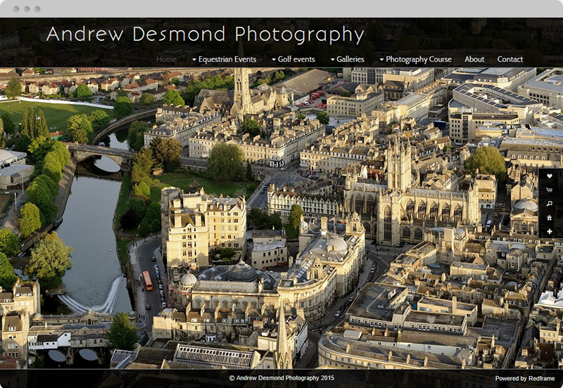 Redframe Photography Websites Client Example - Andrew Desmond Photography