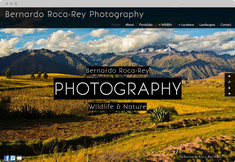 Redframe Photography Websites Client Example - Bernardo Roca Rey Photography