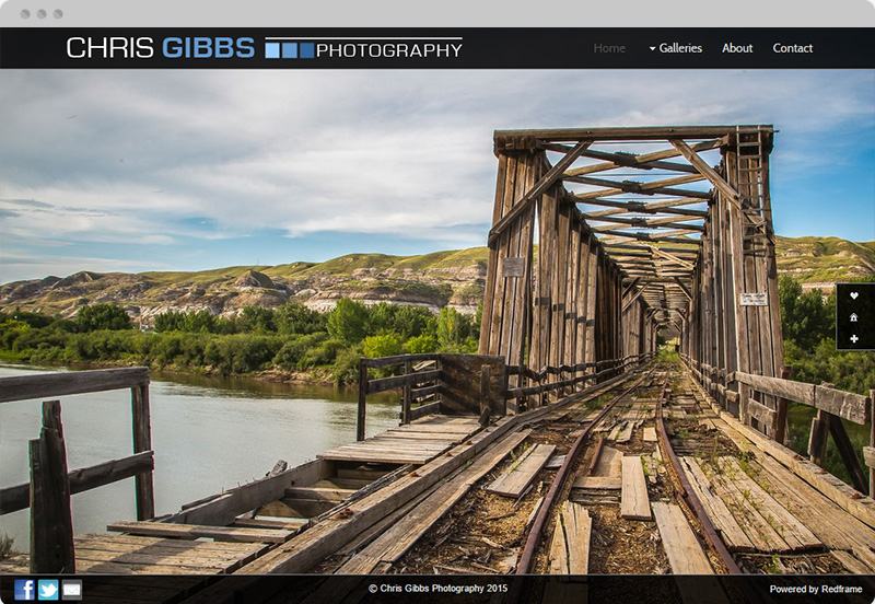 Redframe Photography Websites Client Example - Chris Gibbs Photography