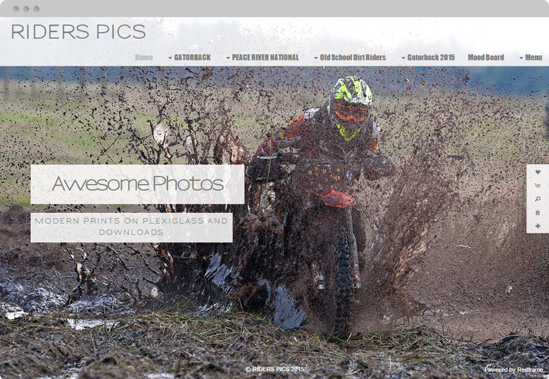 Redframe Photography Websites Client Example - Rider Pics