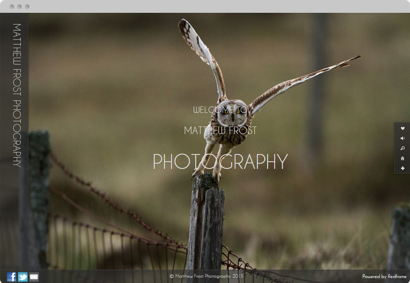Redframe Photography Websites Client Example - Matthew Frost Photography