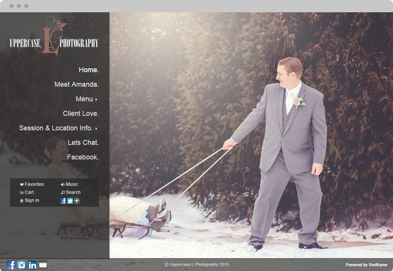Redframe Photography Websites Client Example - Uppercase L Photography