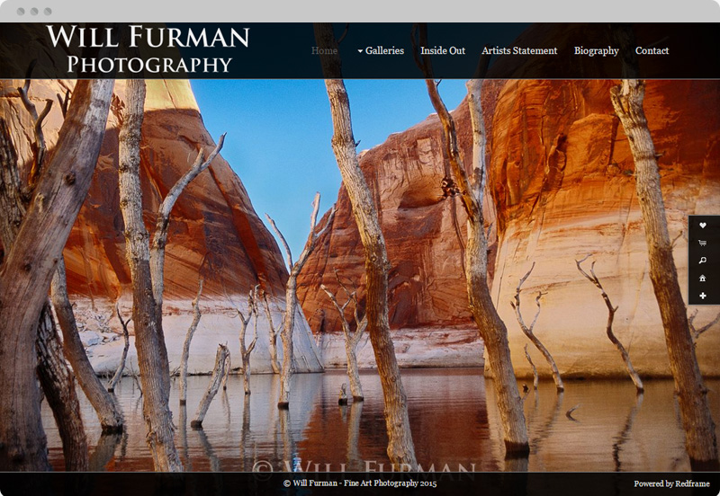 Redframe Photography Websites Client Example - Will Furman Fine Art Photography