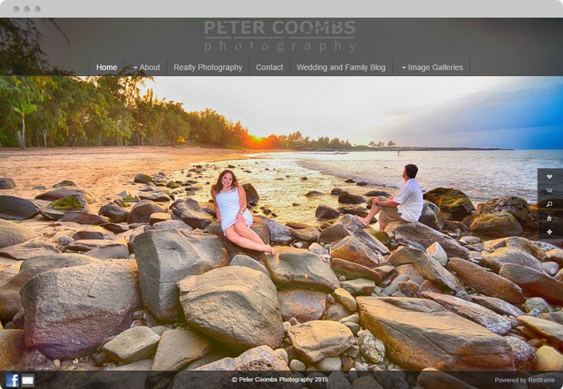 Redframe Photography Websites Client Example - Peter Coombs Photography