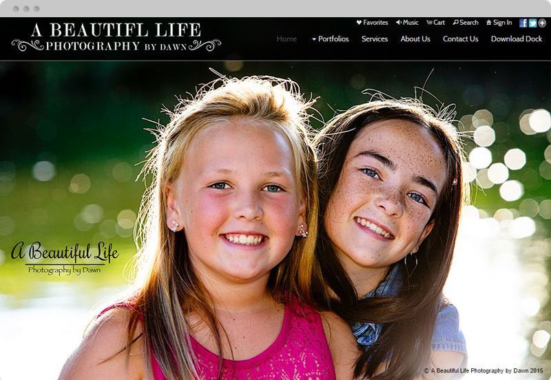 Redframe Photography Websites Client Example - A Beautiful Life By Dawn
