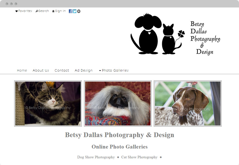 Redframe Photography Websites Client Example - Betsy Dallas Photography