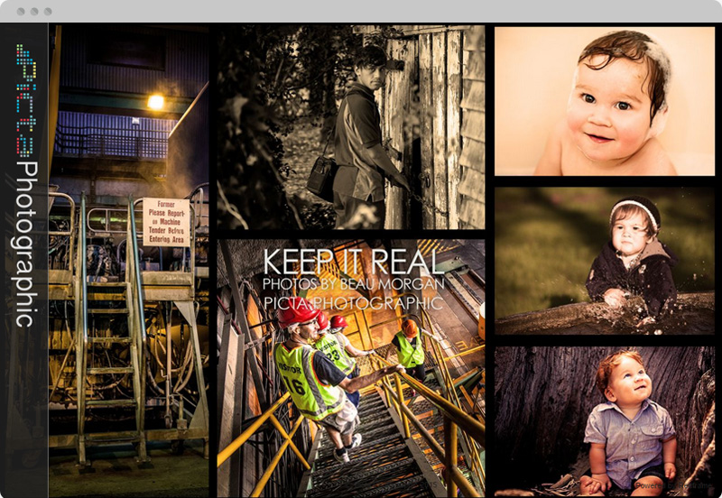 Redframe Photography Websites Client Example - Picta Photographic
