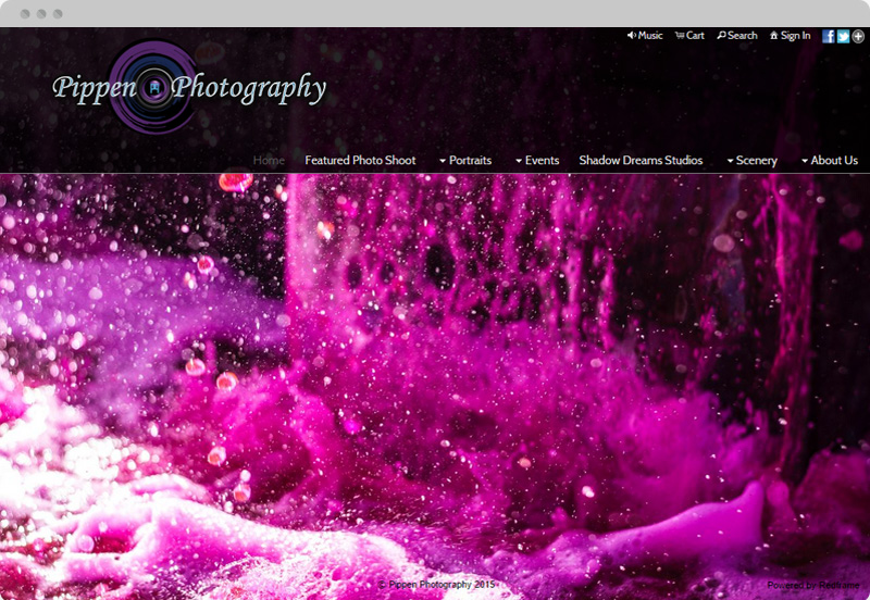 Redframe Photography Websites Client Example - Pippen Photo