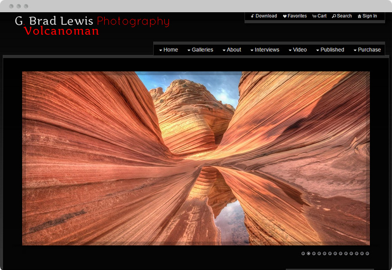 Redframe Photography Websites Client Example - G Brad Lewis