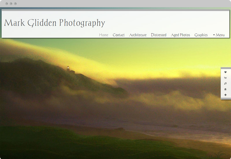 Redframe Photography Websites Client Example - Mark Glidden Photography