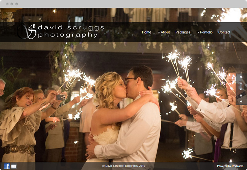 Redframe Photography Websites Client Example - David Scruggs Photography