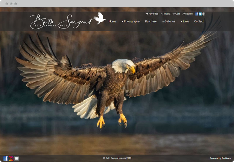 Redframe Photography Websites Client Example - Beth Sargent Photography
