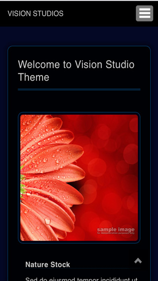 Redframe Vision Studio phone screen